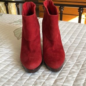 Steve Madden Shoes - Steve Madden Trisha Booties red suede